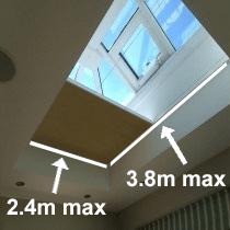 VALE Premium Motorised Flat Roof/Lantern Blinds