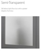 Luxaflex 20mm Semi-Transparent Plisse Blinds