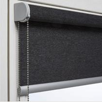 Luxaflex Room Darkening Grey/Black Roller Blinds