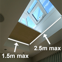 VALE Flat Roof/Lantern Honeycomb Blackout Blind