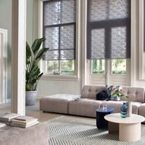 Luxaflex Sheer & Semi Transparent Grey/Black Roller Blinds