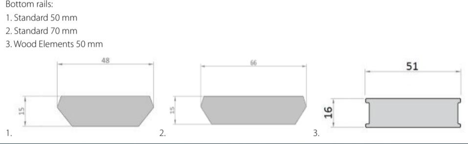 Luxaflex Wood Venetian Bottom Rails Sizes