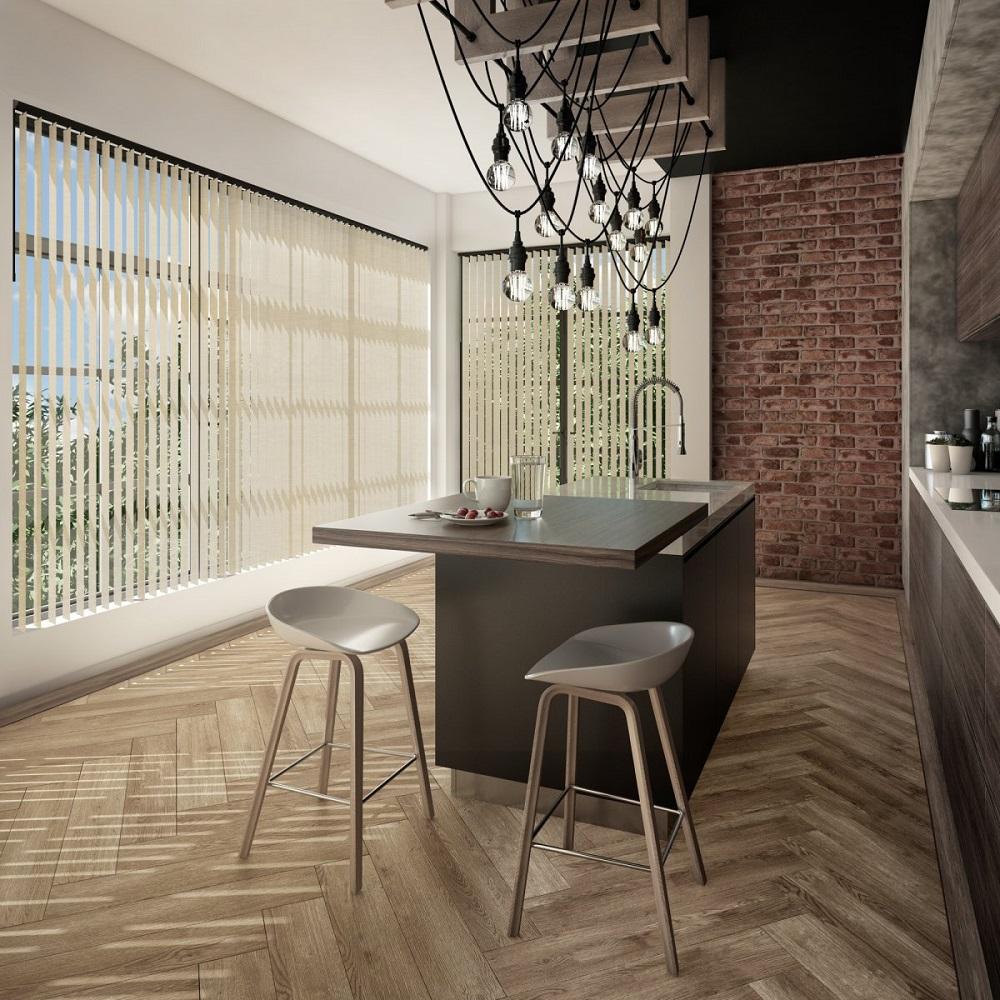Tropical Vertical Kitchen
