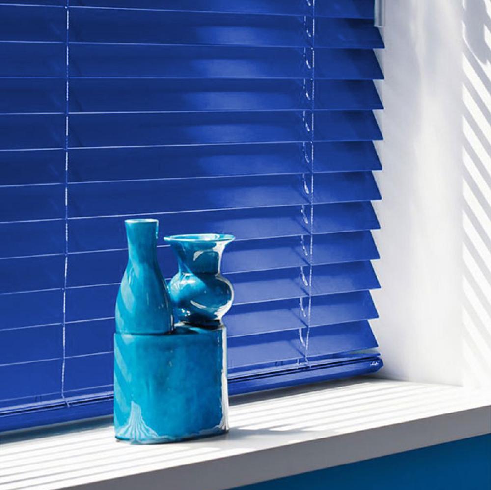 Luxaflex Wood custom blue