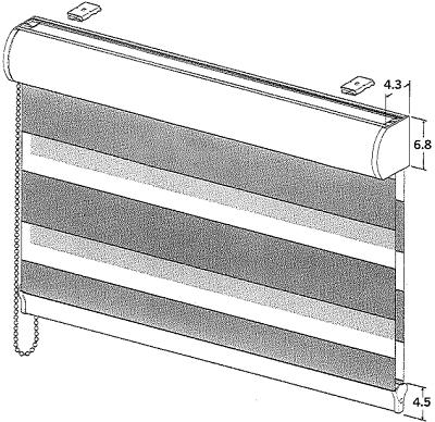 Duorol Cassette and Bottom Rail sizes