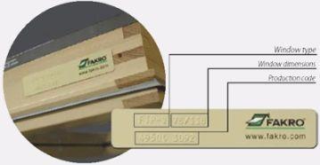 Fakro data plate
