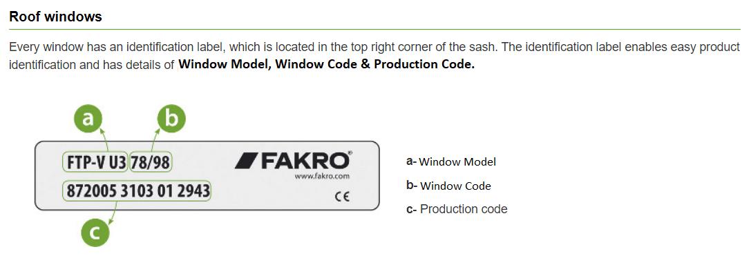 Fakro Window Plate