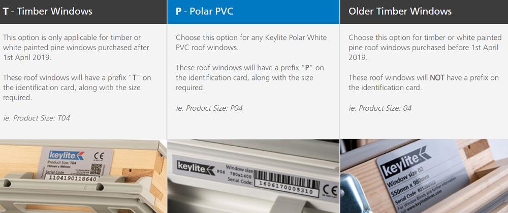 Keylite 3 Window Types