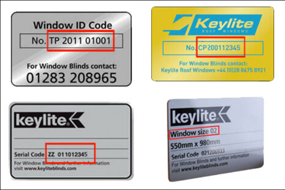 Keylite All ID Plate Types