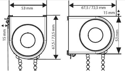 Luxflex Twist Standard Profile Sizes