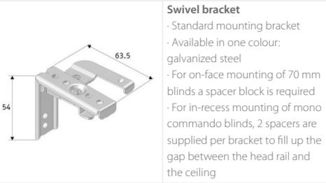 Luxaflex Wood Swivel Brackets