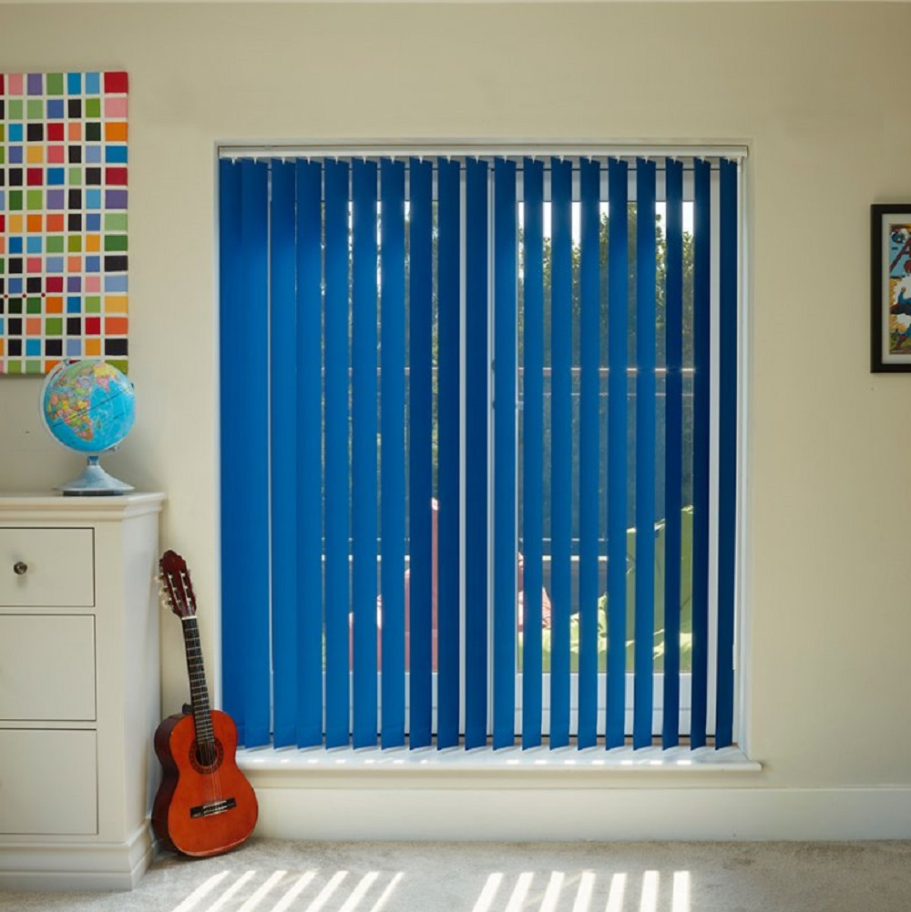 Tropical Vertical Blue Blind