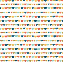 VALE for Dakstra Roller Blind | DIGIBB-PBB-T Playful Bunting Bright