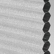 VALE Flat Roof Honeycomb Blackout Blind | PX78602-Hive Matrix Silver
