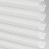 VALE INTU Cellular/Pleated Non-Blackout Blind | PX71001-Hive Plain White