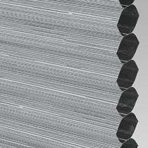 VALE Flat Roof Honeycomb Blackout Blind | Hive Silkweave Raven